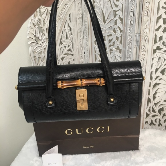 9b6a0ac4b820 Gucci Handbags - GUCCI Vintage Bamboo Bullet Leather Purse